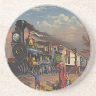 The Fast Mail Postal Service Train From 1875 Coaster