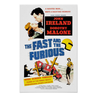 The Fast & The Furious (1955) Poster