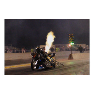 """THE FASTEST DRAG BIKE ON THE PLANET"" 250.97 MPH POSTER"