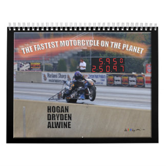 The Fastest Dragbike On The Planet... Sponsor Wall Calendars