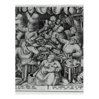 The Fat Kitchen by Pieter Bruegel the Elder Postcard