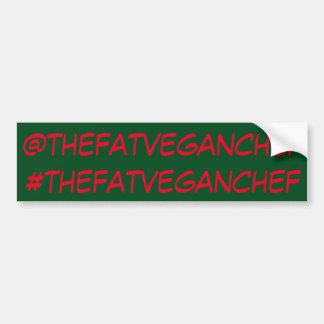 The Fat Vegan Chef social media sticker Bumper Sticker