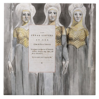 The Fatal Sisters, design 67 from 'The Poems of Th Tile