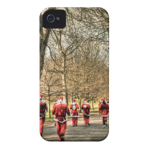The Father Christmas 10km run in Greenwich, London iPhone 4 Cover