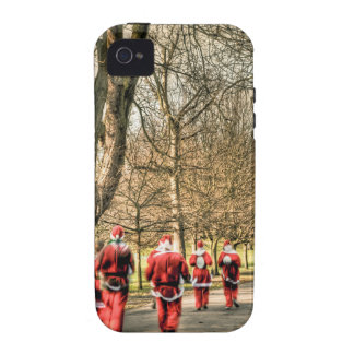 The Father Christmas 10km run in Greenwich, London iPhone 4/4S Cover