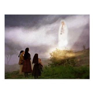 The Fatima Apparition Devotional Image Postcard