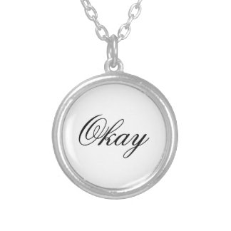 "The Fault in Our Stars ""Okay"" Necklace. Silver Plated Necklace"