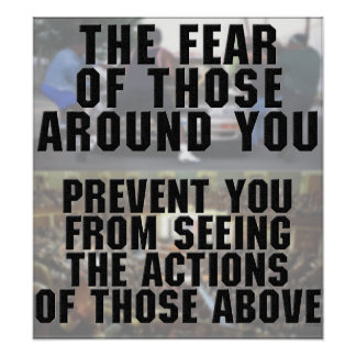 The Fear of Those Around You Poster