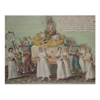 The Feast of Agriculture in 1796 at Paris Postcard