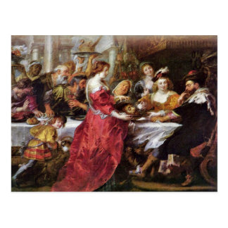 The Feast Of The Herododes By Rubens Peter Paul Postcard