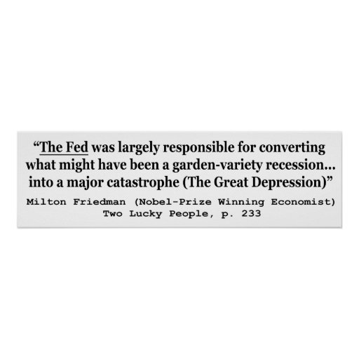 The Fed Was Responsible For The Great Depression Print