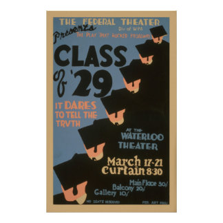 The Federal Theater College Graduates 1937 WPA Poster