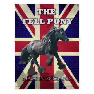 """""""The Fell Pony -- True Brit -- Made In England"""" Postcard"""