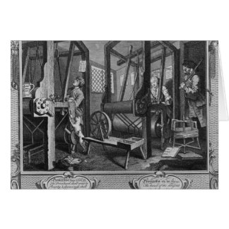 The Fellow 'Prentices at their Looms Card
