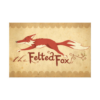 The Felted Fox Canvas Print