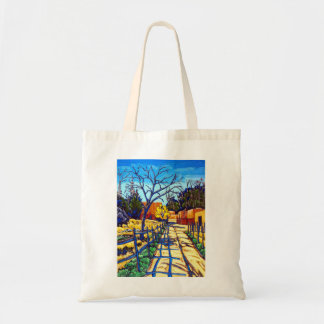 The Fence Shadows Santa Fe Tote Bag