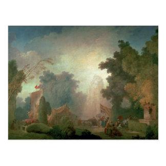 The Fete at Saint-Cloud (oil on canvas) (for detai Postcard