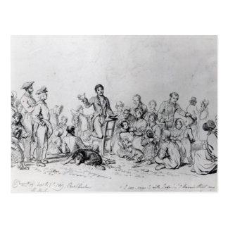 The Field Preacher, 1837 Postcard
