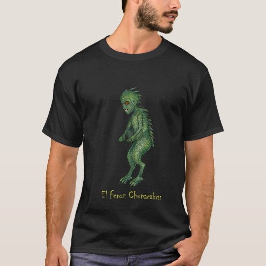 The Fierce Reptilian Chupacabras Dark T-Shirt