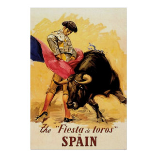 The Fiesta De Toros In Spain Poster
