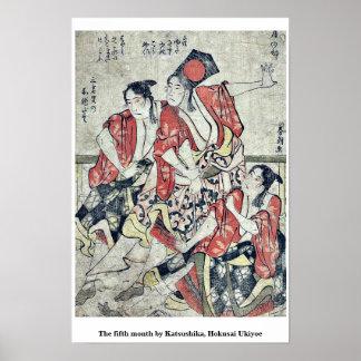 The fifth month by Katsushika, Hokusai Ukiyoe Posters