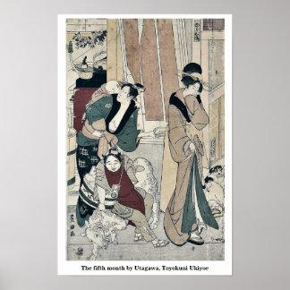 The fifth month by Utagawa, Toyokuni Ukiyoe Poster