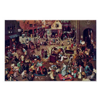 The Fight Between Carnival And Lent,  By Bruegel Poster
