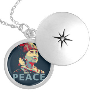THE FIGHTER - Aung San Suu Kyi | Plated Locket