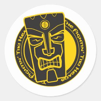 The Fightin' Tiki Heads B&Y Classic Round Sticker