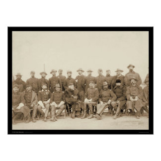 The Fighting 7th Cavalry Officers SD 1891 Poster