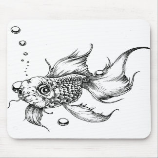The Fighting Fish- Mouse Pad