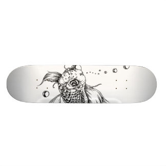 The Fighting Fish Skate Board Deck