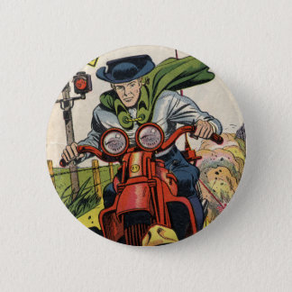 The Fighting Yank On A Motorcycle 2 Inch Round Button