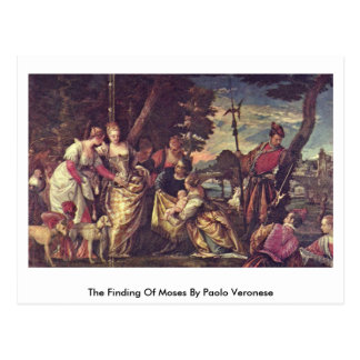 The Finding Of Moses By Paolo Veronese Postcard
