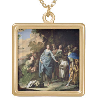 The Finding of Moses, c.1650-56 (oil on canvas) Gold Plated Necklace