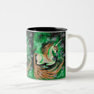 The Finger Painted Unicorn Two-Tone Coffee Mug