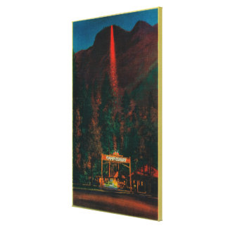The Fire Fall from Glacier Point Canvas Print