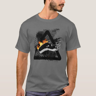 The fire jump, jumping kitesurfer sign T-Shirt
