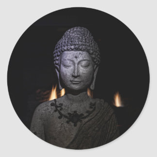 The fire within the Buddha Classic Round Sticker