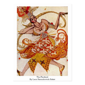 The Firebird By Leon Samoilovitch Bakst Postcard