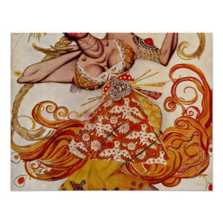 The Firebird by Leon Samoilovitch Bakst Poster
