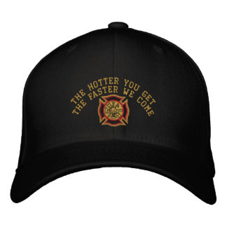 The Firefighter Custom Humorous Embroidery Embroidered Hats