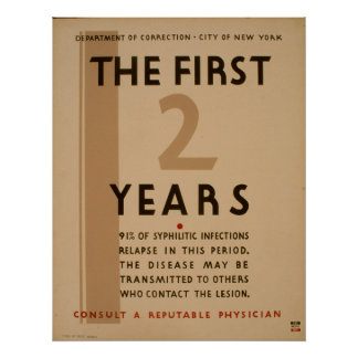 The First 2 Years Vintage Public Health Poster