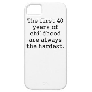 The First 40 Years Of Childhood iPhone 5/5S Covers