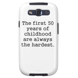 The First 50 Years Of Childhood Samsung Galaxy SIII Cases