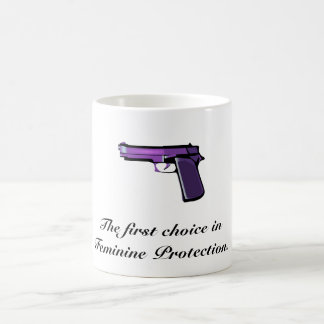 THE FIRST CHOICE IN FEMININE PROTECTION COFFEE MUG