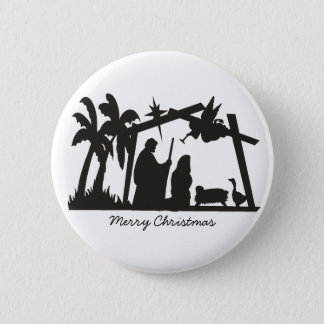 The first Christmas 2 Inch Round Button