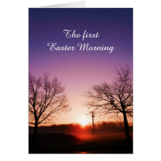 THE FIRST EASTER card