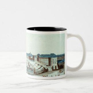 The first flight of Pilatre du Rozier's hot-air ba Two-Tone Coffee Mug