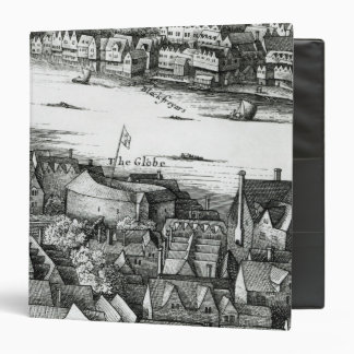 The First Globe Theatre or Rose Theatre Vinyl Binders